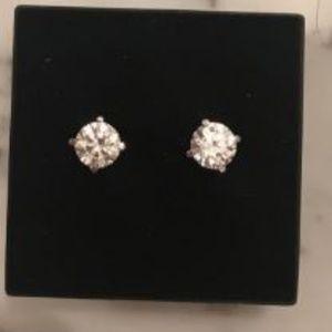 Swarovski Jewelry - 14k white  gold post 2carat  Swarovski Studs